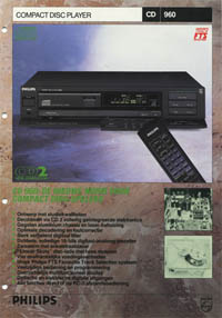 Philips CD960 Dutch brochure PDF