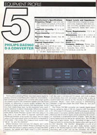 Philips DAC960 review PDF