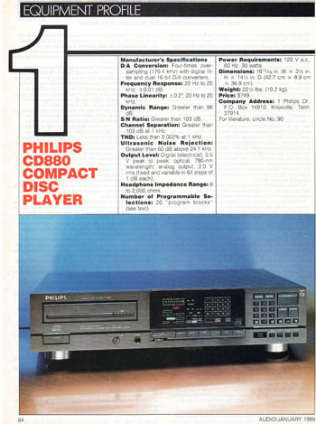 Philips CD880 review PDF
