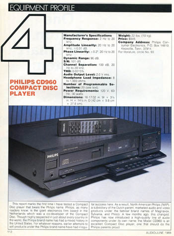 philips cd960 review pdf. Black Bedroom Furniture Sets. Home Design Ideas