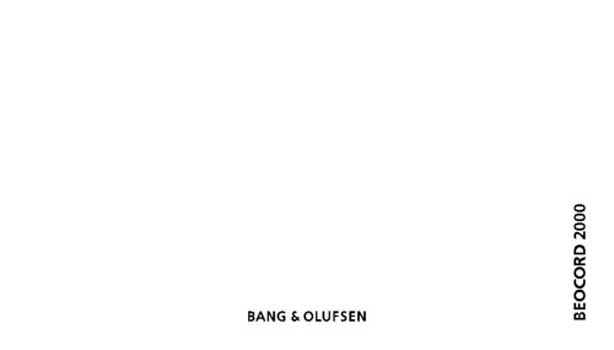 Bang and Olufsen Beocord 2000 (C) owners manual PDF