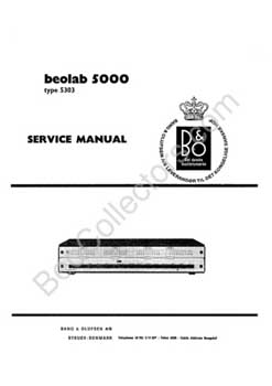Bang and Olufsen Beolab 5000 service manual PDF