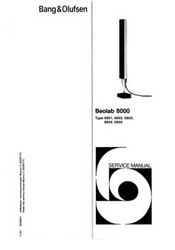 Bang and Olufsen Beolab 8000 service manual PDF
