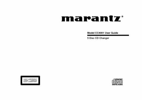 Marantz CC-4001 owners manual PDF