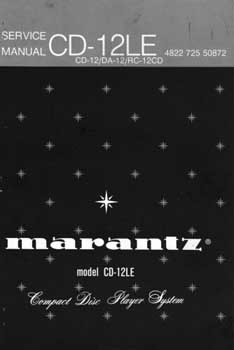 Marantz CD-12LE service manual PDF