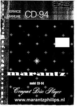 Marantz CD-94 service manual PDF
