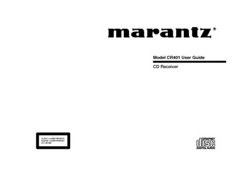 Marantz CR-401 owners manual PDF