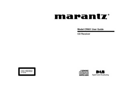Marantz CR-601 owners manual PDF
