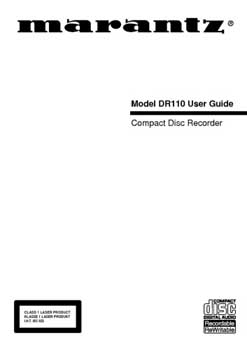 Marantz DR-110 owners manual PDF