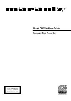 Marantz DR-6050 owners manual PDF