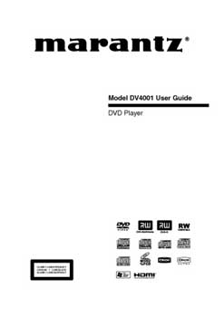 Marantz DV-4001 owners manual PDF