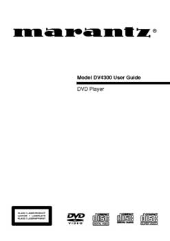 Marantz DV-4300 owners manual PDF