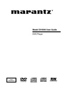 Marantz DV-4500 owners manual PDF