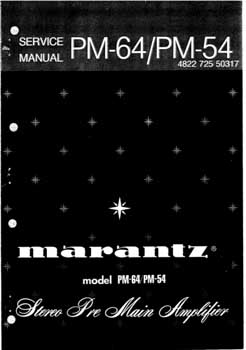 Marantz PM-54 service manual PDF