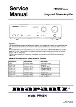 Marantz PM-66 service manual PDF