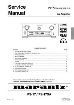 Marantz PS-17 service manual PDF