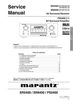 Marantz PS-5400 service manual PDF