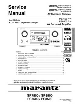 Marantz PS-7500 service manual PDF