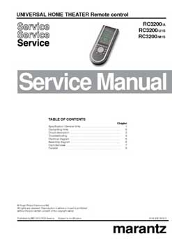 Marantz RC-3200 service manual PDF