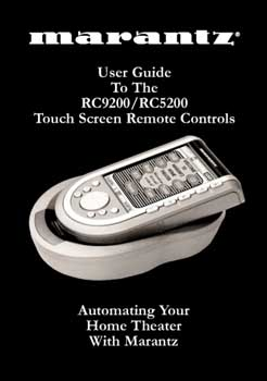 Marantz RC-9200 owners manual PDF