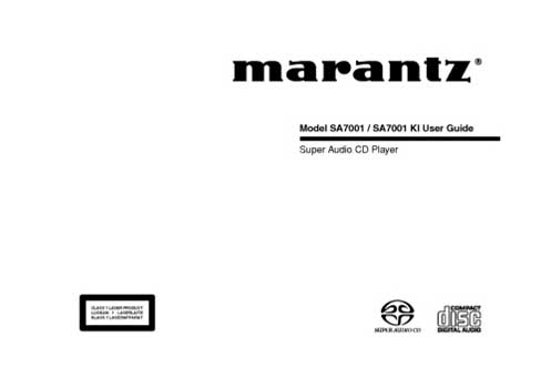 Marantz SA-7001 owners manual PDF