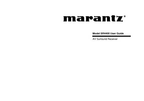 Marantz SR-4400 owners manual PDF