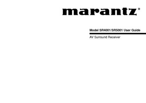 Marantz SR-5001 owners manual PDF