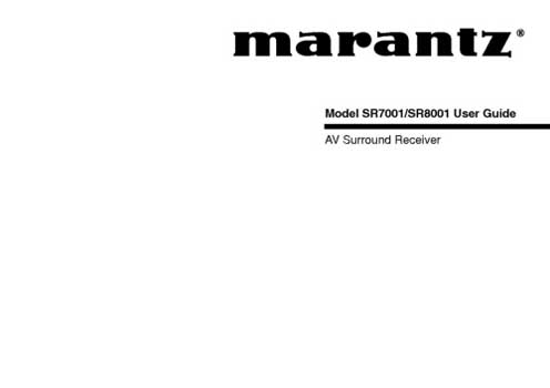 Marantz SR-7001 owners manual PDF