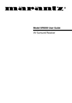 Marantz SR-9200 owners manual PDF