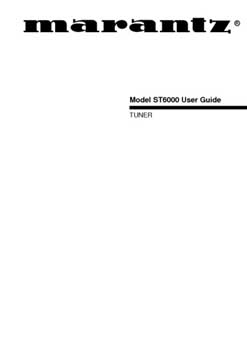 Marantz ST-6000 owners manual PDF