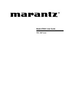 Marantz ST-6001 owners manual PDF