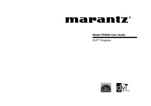 Marantz VP-8600 owners manual PDF
