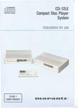 Philips LHH-1000 owners manual PDF (See Marantz CD12 LE)