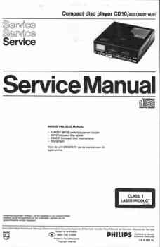 Philips cd-10 service manual PDF (Dutch)