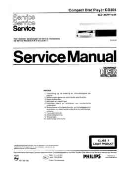 Philips cd-304 service manual PDF