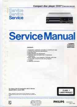 Philips cd-371 service manual PDF