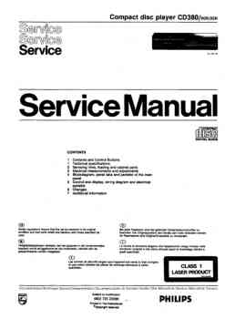 Philips cd-380 service manual PDF