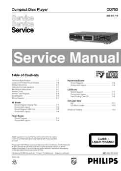 Philips cd-753 service manual PDF