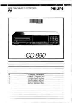 Philips cd-880 owners manual PDF