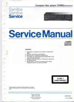 Philips cd-880 service manual PDF