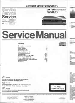 Philips cdc-552 service manual PDF