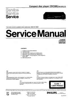 Philips cdc-586 service manual PDF