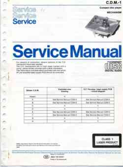 Philips cdm-1 cd-mechanism service manual PDF