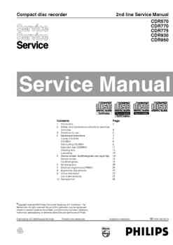 Philips cdr-770 service manual PDF