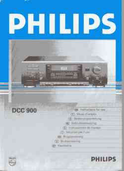 Philips dcc-900 owners manual PDF