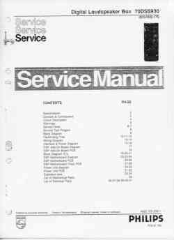 Philips dss-930 service manual PDF