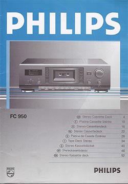 Philips fc-950 owners manual PDF