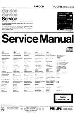 Philips fcd-565 service manual PDF
