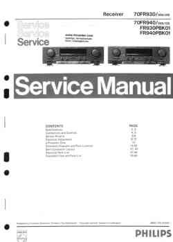 Philips fr-925 service manual PDF