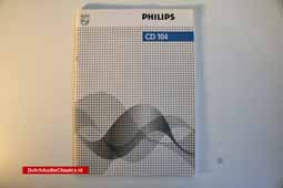 For Sale: Philips CD104 user manual